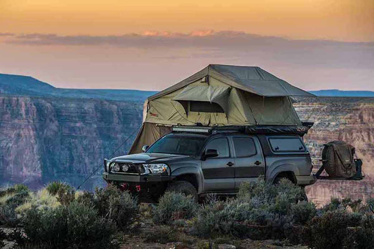 walkabout 62 roof top tent with light suppression techology 23zero usa