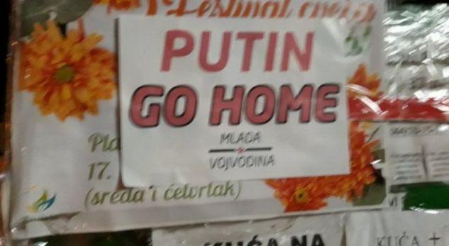 Vojvodina me pllakate  Putin  shko në shtëpi