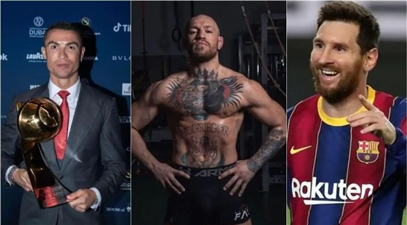 McGregor beats Messi and Ronaldo on Forbes list