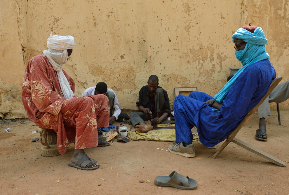 Tuareg men socialize on January 22, 2013 in Segou. (Eric Feferberg/AFP/Getty Images)