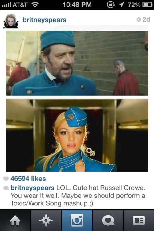 This. And yes, I do follow Britney on Instagram. Of course I do!