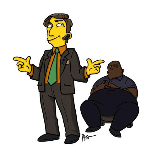 "Saul Goodman from ""Breaking Bad"" / Simpsonized by ADN"