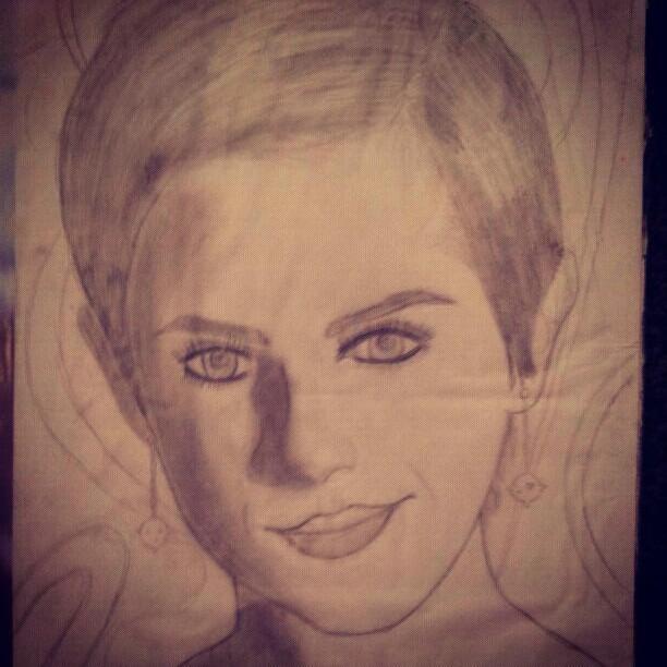 My other Emma Watson sketch that I did last year x