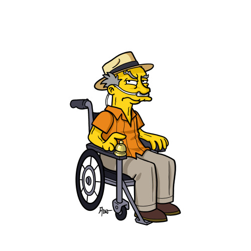 "Hector Salamanca from ""Breaking Bad"" / Simpsonized by ADN"