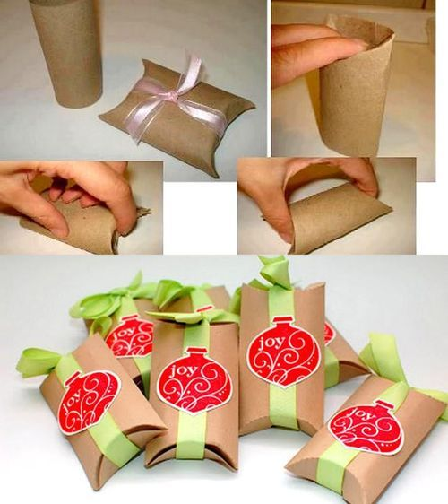 DIY Simple Toilet Paper Rolls Gift Box DIY Projects / UsefulDIY.com