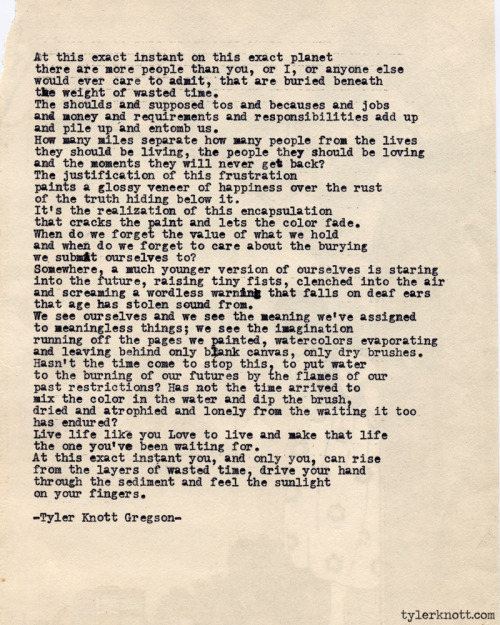 Typewriter Series #419 by Tyler Knott Gregson