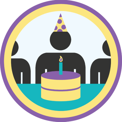 Lifescouts: Birthday Party Badge<br /> If you have this badge, reblog it and share your story! Look through the notes to read other people's stories.<br /> Click here to buy this badge physically (ships worldwide).<br /> Lifescouts is a badge-collecting community of people who share their real-world experiences.
