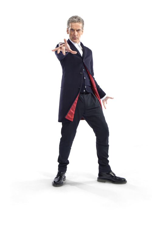 "IT'S HERE!The new Doctor's 'costume' has been revealed.Commenting on his costume, Peter Capaldi said: ""He's woven the future from the cloth of the past. Simple, stark, and back to basics. No frills, no scarf, no messing, just 100 percent Rebel Time Lord.""  While lead writer and executive producer Steven Moffat added: ""New Doctor, new era, and of course new clothes. Monsters of the universe, the vacation is over - Capaldi is suited and booted and coming to get you!"" Read more about the costume, its creation and The Twelfth Time Lord here: http://www.bbc.co.uk/blogs/doctorwho/articles/Peter-Capaldi-Doctor-Who-Costume-Revealed-"