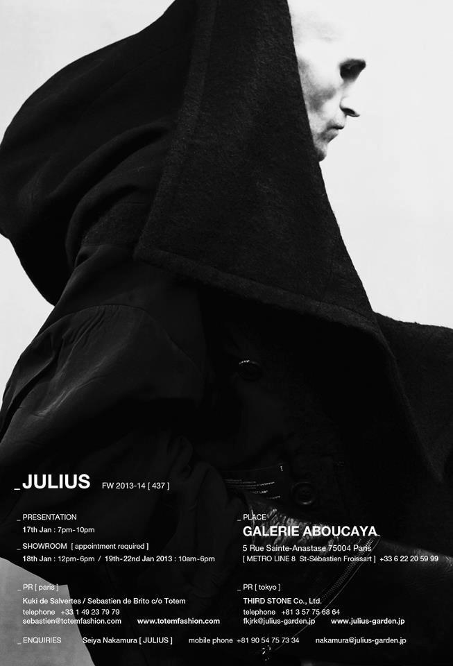 Julius FW2013 presentation invitation <br /><br /><br /><br /><br /><br /><br /><br /><br /><br /><br /><br /><br /><br /> Stealth