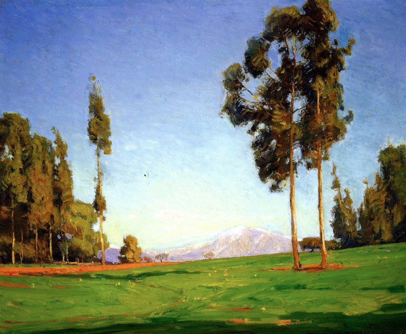 William Wendt - Edge of the Forest, 1916 o/c, 25 x 30 inches Irvine Museum