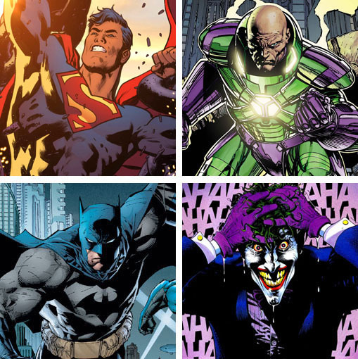 Image result for superman lex luthor batman joker