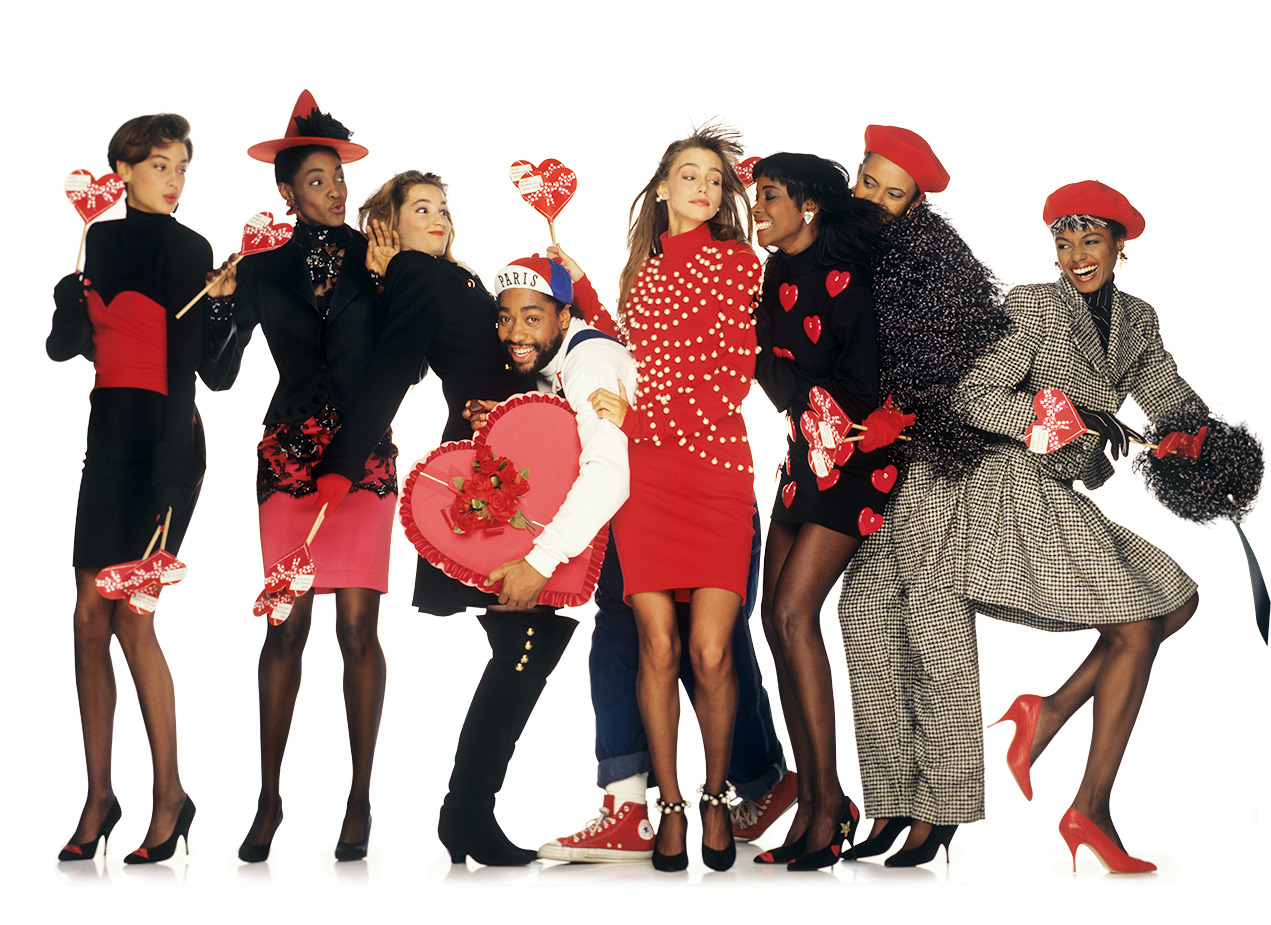 Patrick Kelly Fall/Winter 1988 ad campaign. Photo: Oliviero Toscani