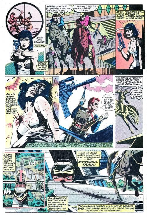 Sabre, the most explosive hero in comics
