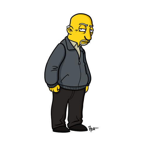 "Mike Ehrmantraut from ""Breaking Bad"" / Simpsonized by ADN"