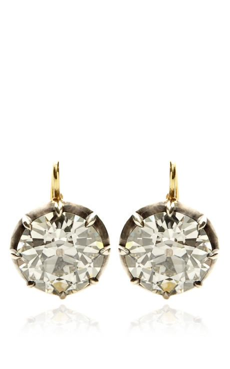 zsazsasitlist:</p> <p>WOW!<br /> DESIGNER:  STEPHEN RUSSELL<br /> SEE DETAILS HERE:  Silver Gold And Diamond Earrings<br /> These Silver Gold and Diamond Earrings from theStephen RussellCollection embody the power of the past. This pair features two Old European Cut Diamond drops that are set in Silver Gold. Individually sized at 6.67 and 6.37 Carats. Silver Gold, Diamond.<br />