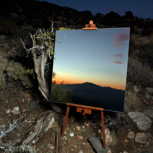 garakami:</p> <p>The Edge Effect: Daniel Kukla takes pictures of a mirror reflecting the horizon, which look like a painting<br /> GARAKAMI on Facebook · Twitter · Pinterest · Instagram</p> <p>YOU CAN PAINT A PRETTY PICTURE<br /> WITH A BLUE SKY AND TREES,<br /> BUT NATURE WILL ALWAYS BE PRETTIER<br /> AND CAN NEVER BE DUPLICATED.