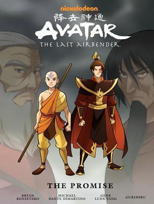 "Title: Avatar: The Last Airbender - The Promise Library EditionAuthors: Gene Luen Yang, Michael Dante DiMartino, Bryan Konietzko. Editor, Dave Marshall and Illustrator GurihiruPublisher: Dark Horse ComicsStatus: Available on March 5th 2013*full disclosure: Free thanks to the publisher via NetGalley for my Honest Review.Description:(by goodreads.com)The Avatar's adventures continue right where the TV series left off, in this beautiful, oversized hardcover of The Promise, from Airbender creators Michael Dante DiMartino and Bryan Konietzko! Aang and friends must join together once again as the four nations' tenuous peace is threatened in an impasse between Fire Lord Zuko and Earth King Kuei! As the world heads toward another devastating war, Aang's friendship with Zuko throws him into the middle of the conflict! Featuring annotations by Eisner Award-winning writer Gene Luen Yang (American Born Chinese) and artist Gurihiru (Thor and the Warriors Four), and a brand-new sketchbook, this is a story that Avatar fans need in an edition they will love!My Review:If you Loved Avatar the Last Airbender, you'll love this. It combines all three parts of ""The Promise,"" and gives you oodles of annotations and behind the scenes info of our precious ATLA! Netgalley I love you, I do but DAMN FIX YOUR RESOLUTION. My version was barely readable. Despite that I loved this. Toph and Sokka are still mega BAMFS. Aang and Katara were nice to see, Katara mellowed out and Aang serioused up. Lol. Zuko again for the last time, IS NOT EVIL. While I love this story and this edition of ""The Promise"" (and I know they are working on this…) but CAN WE FIGURE OUT WHAT HAPPENED TO ZUKO'S MOM ALREADY?! Overall rating: 5.5/7"