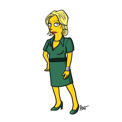 "Skyler White from ""Breaking Bad"" / Simpsonized by ADN"