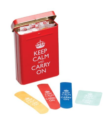 These Keep Calm and Carry On bandaids are by far the most ingenious, for reasons of obvious aptness, play on the beloved meme.<br /><br /> (↬ Quipsologies)