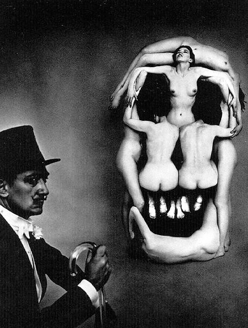 Salvador Dalí - Women forming a skull entitled 'In Voluptas Mors', 1951