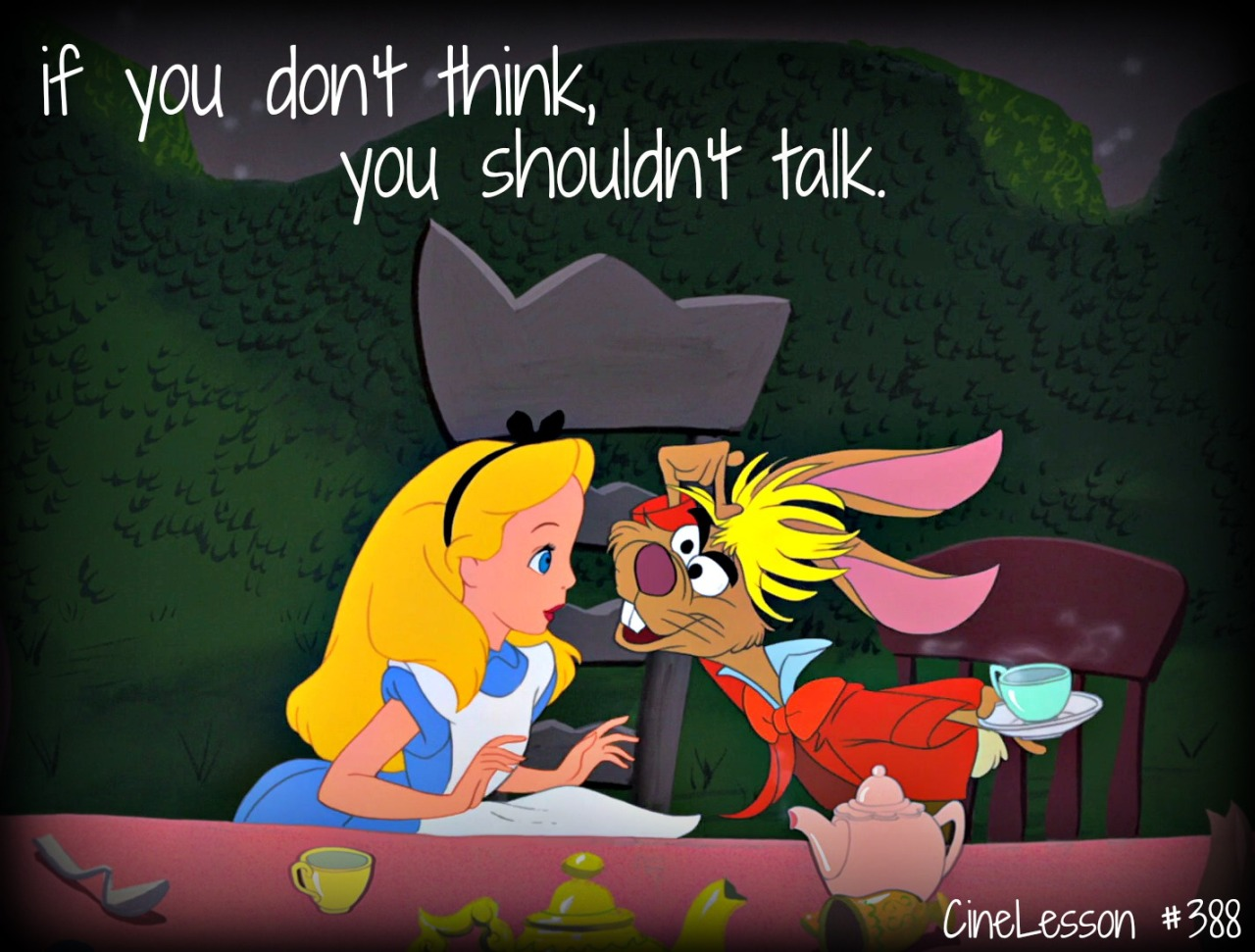 Alice talking to the Hare: