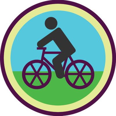 Lifescouts: Bike-Riding Badge<br /> If you have this badge, reblog it and share your story! Look through the notes to read other people's stories.<br /> Click here to buy this badge physically (ships worldwide).<br /> Lifescouts is a badge-collecting community of people who share their real-world experiences.