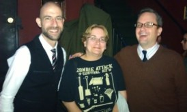 photo of me with Cecil Baldwin and Jeffrey Cranor at the LA show