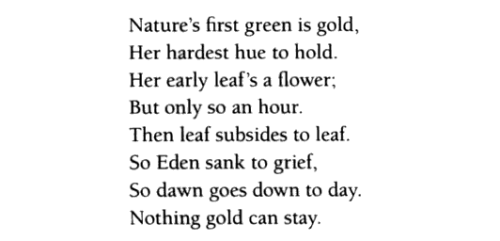 Frost Gold Nothing Robert Poem Stay Can
