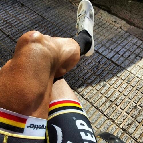 Roubaix winning legs. #boonen