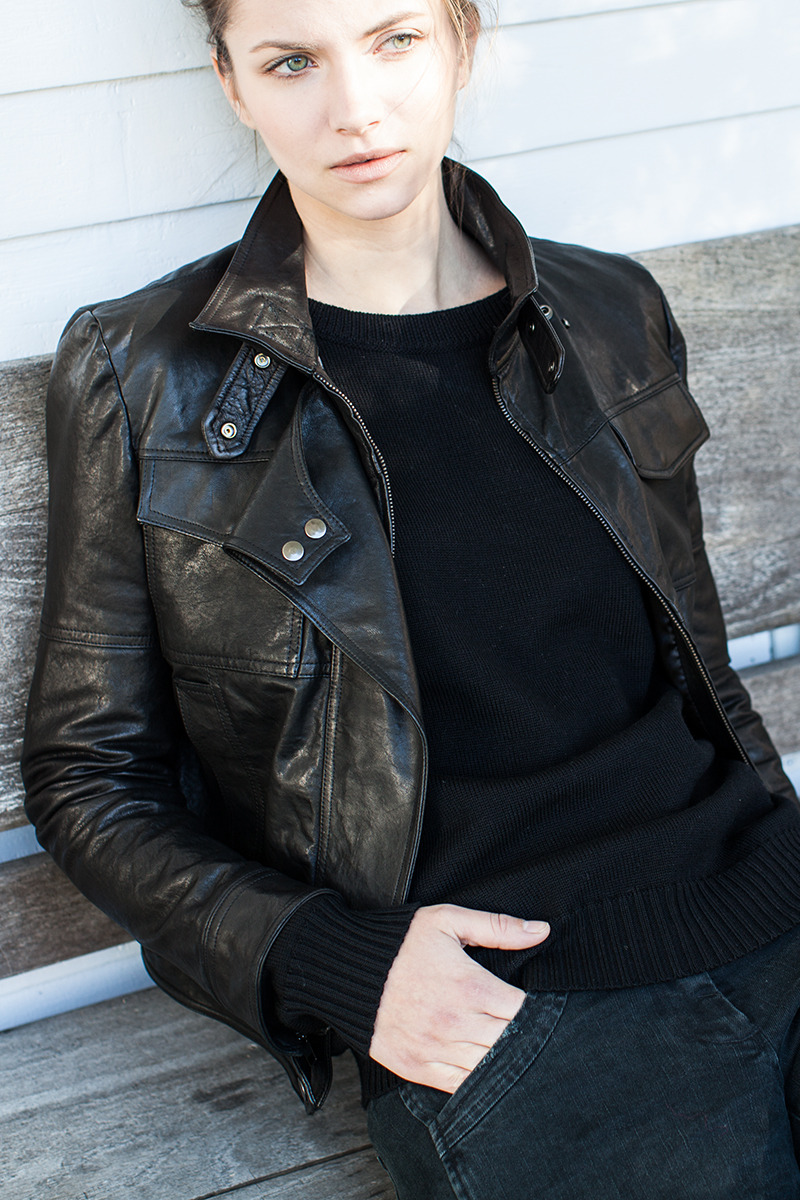 DESIGNER: Emerson Fry <br /> SEE DETAILS HERE: Emerson Fry - Biker Jacket - Black Leather<br /> PERFECT