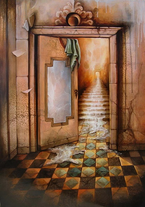 pixography:</p> <p>Yo Coquelin</p> <p>In the basement of End House,<br /> you are faced with three closed doors.<br /> What lies behind them?<br /> When you open a door,<br /> will you be entering an actual room<br /> or one from created from your darkest fears?<br /> Does one hold a tunnel leading to more darkness?<br /> Pick one and find out.<br /> You are only limited by your own imagination.<br /> THE DEAD GAME by Susanne Leist<br /> http://www.barnesandnoble.com/w/the-dead-game-susanne-leist/1116825442?ean=2940148410881