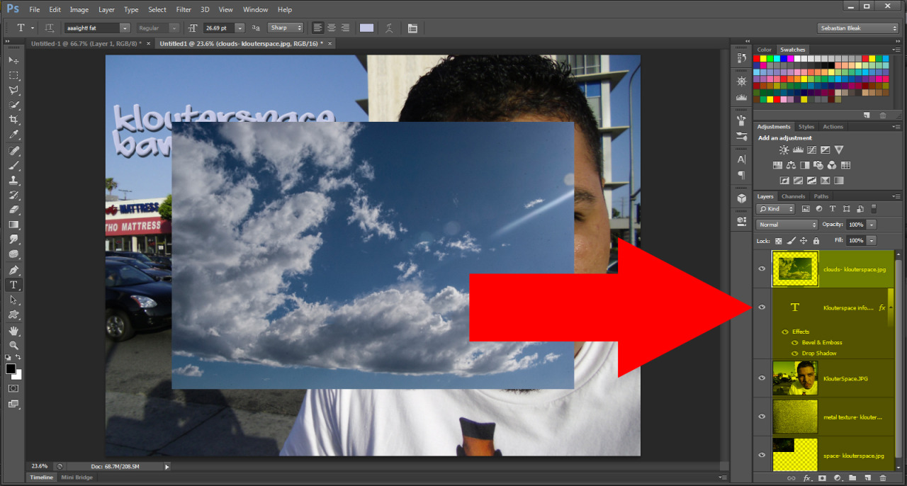 Adobe Photoshop images into layers