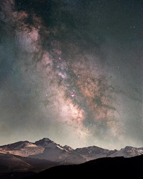 Milky Way and Long's Peak, Rocky Mountain NP - Pat Gaines photo