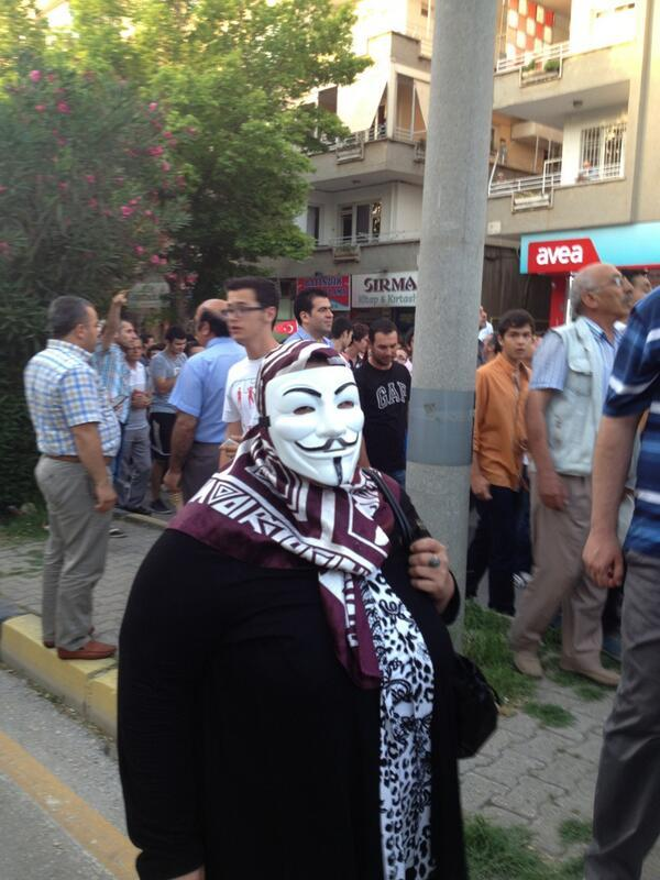 An 'anonymous' woman in Gaziantep