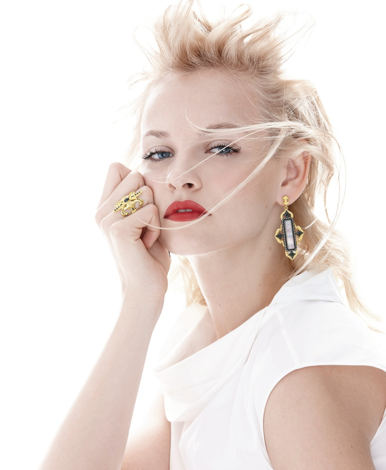 """stormtrooperfashion:  Ginta Lapina in """"Charm School"""" byWalter ChinandJeff StephensforNeiman Marcus' The May Book 2014 See more from this set, includingJac Jagaciak,here."""