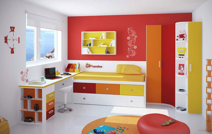 Colorful And Modern Bedroom Design