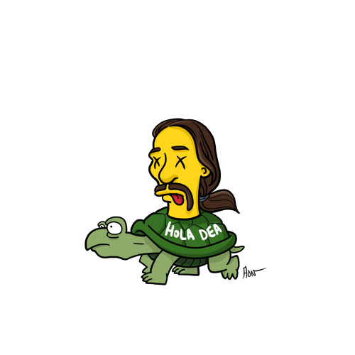 "Tortuga from ""Breaking Bad"" / Simpsonized by ADN"