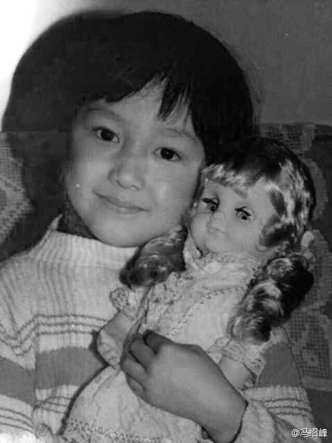 Young Feng Shaofeng with doll