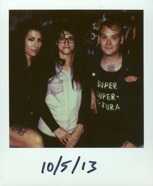 Heather Gabel, Anna Cerniglia, and Matt Skiba at the Empty Bottle