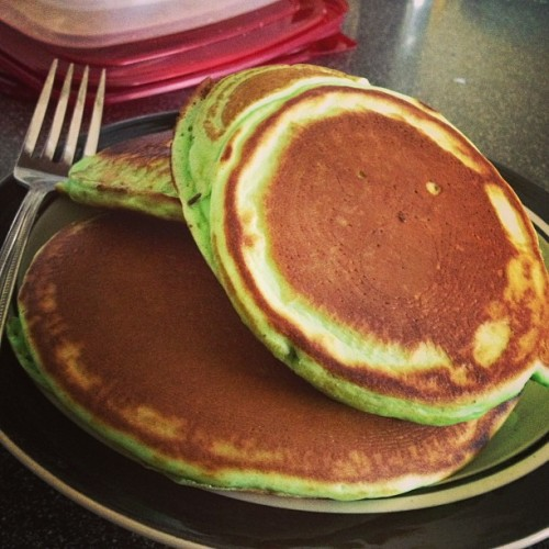 saint patrick's day green pancakes photo