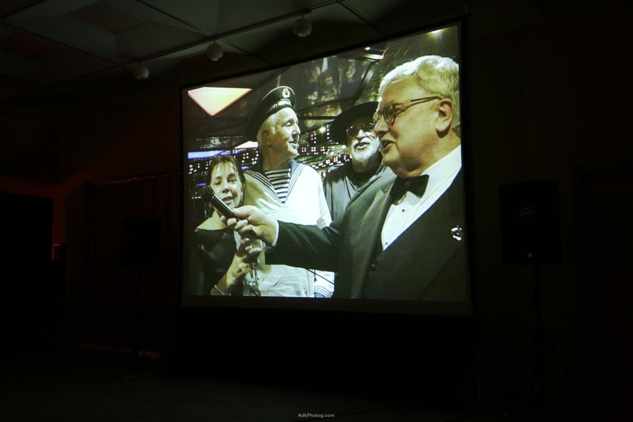 Roger Ebert tribute by Nathan Farb at the Lake Placid Film Forum, photo by Jordan Craig