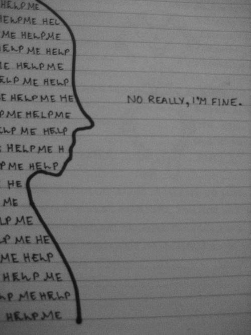 Broken Depressed Girl Drawing
