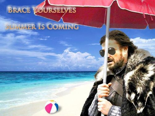 """For all you summer haters out there. And by """"all"""" I mean Ryan. Good riddance winter!"""