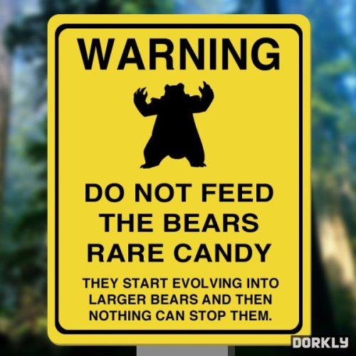 pokemon-fans:  Do Not Feed the Bears…pokemon-fans.tumblr.compokemonfans.net
