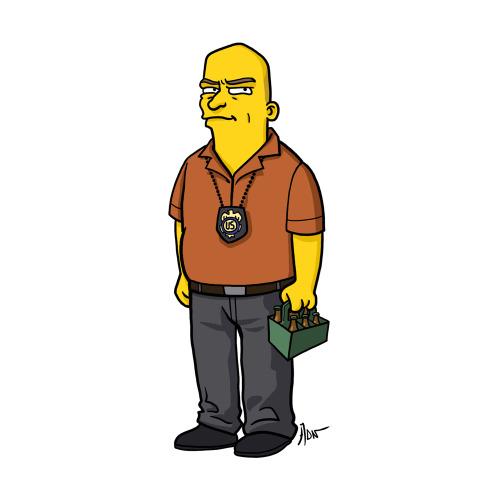 """Hank Schrader from """"Breaking Bad"""" / Simpsonized by ADN"""