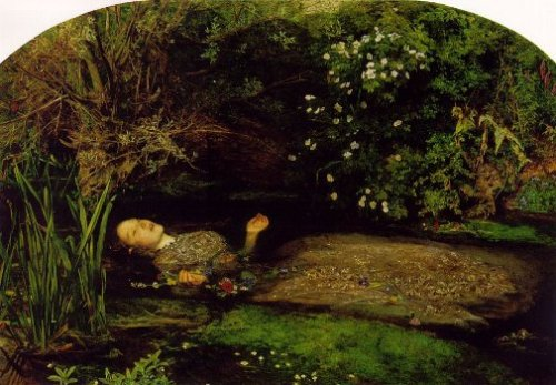Ophelia by John Everett Millais Based on Hamlet