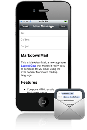 MarkdownMail for iPhone