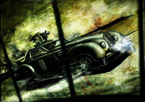 Dieselpunk - Car Dieselpunk is based on the aesthetics of the interbellum period through World War II (c. 1920-1945). The genre combines pop surrealist art with postmodern technology and sensibilities. First coined in 2001 as a marketing term by game designer Lewis Pollak to describe his role-playing game Children of the Sun,[dieselpunk has grown to describe a distinct style of visual art, music, motion pictures, fiction, and engineering