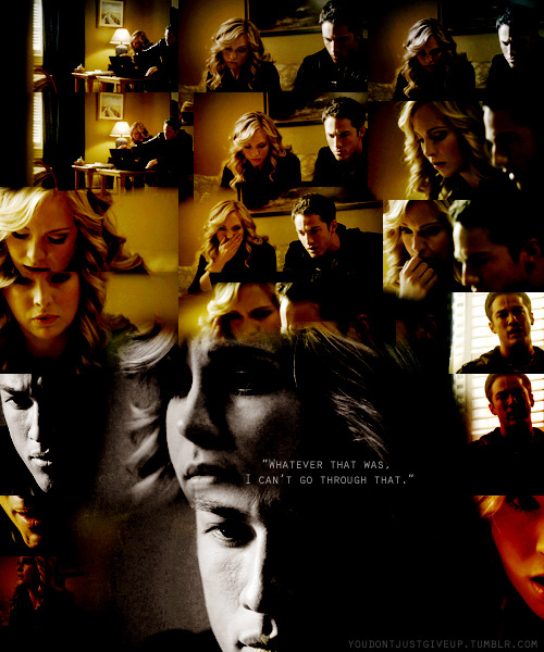 "youdontjustgiveup:  Tyler & Caroline || 2x10 Tyler. ""Whatever that was, I can't go through that."""