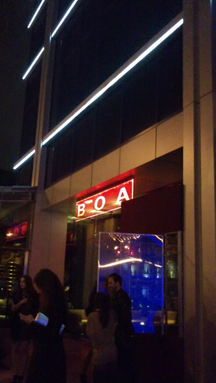 110109 Lim's Twitter  I had dinner at BOA w/ Yubin+Sohee&Jane yesterday!The food was really good & it totally reminded me of my fav singer